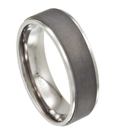 Titanium Mens Wedding Ring With Matte Finish